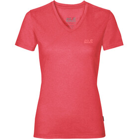 Jack Wolfskin Crosstrail T-Shirt Dames, tulip red